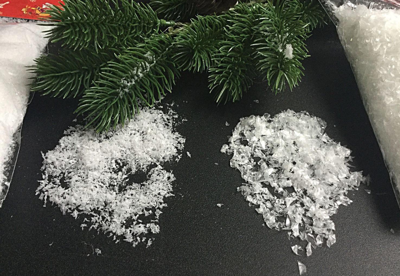 Как на ветке из соли сделать снег в