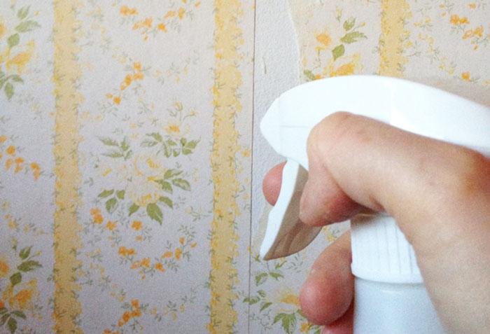 Чем отмыть жирные пятна на моющихся обоях фото