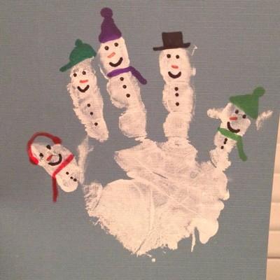 Новогодние поделки детские ладошки
