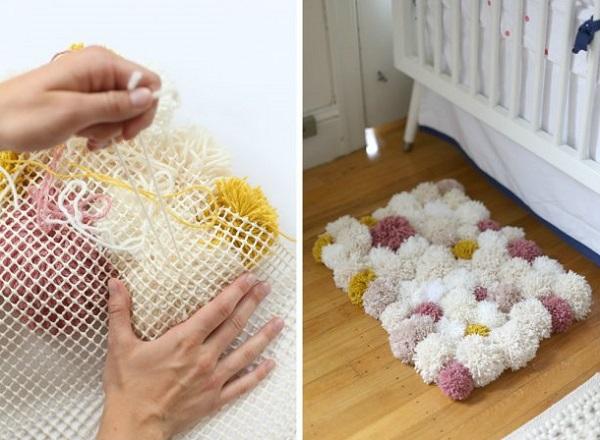 Как сделать коврики своими руками из пряжи