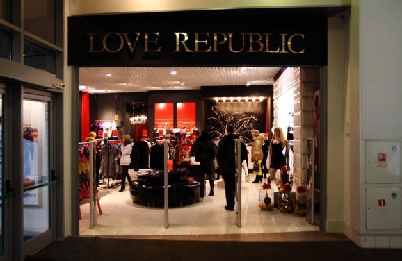 3ca6d1a4b7bb61 В Україні Love Republic 14 магазинів. Вони працюють у крупних містах України:  Київ, Харків, Дніпропетровськ, Донецьк, Запоріжжя та Кривий Ріг.