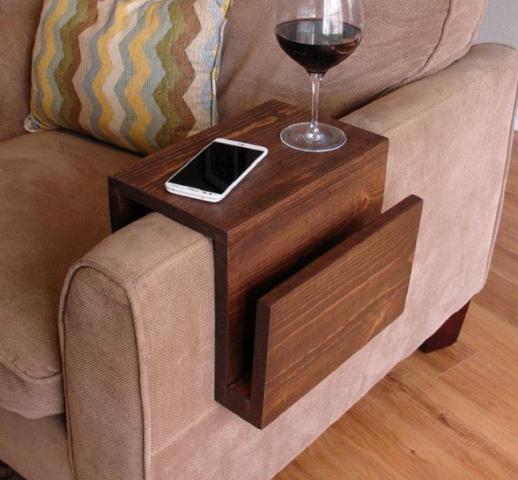Как сделать подлокотник для дивана своими руками