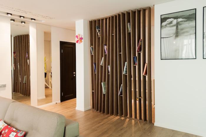 Деревянные перегородок в комнате своими руками
