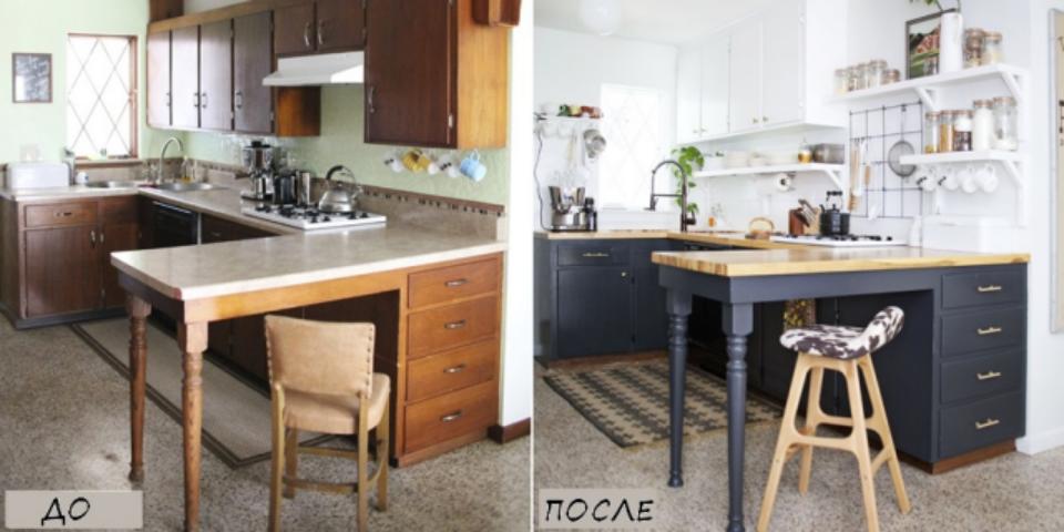 Как перекрасить кухню своими руками