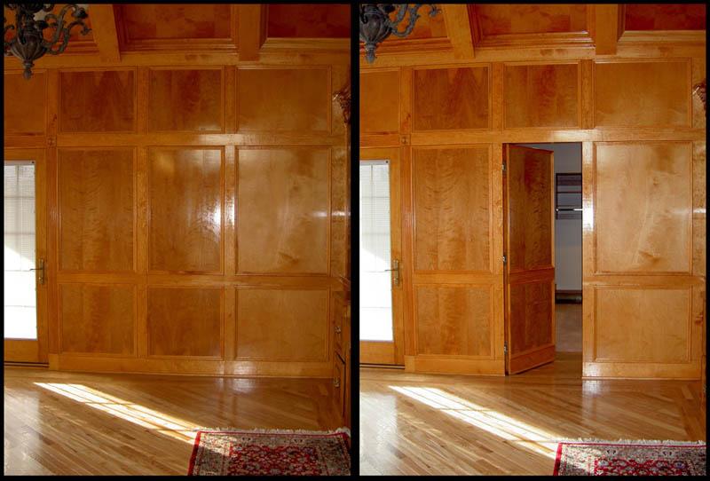 Как сделать скрытую дверь в стене - ПРОСПЕКТ