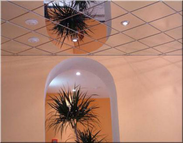 Ceiling mirror tiles
