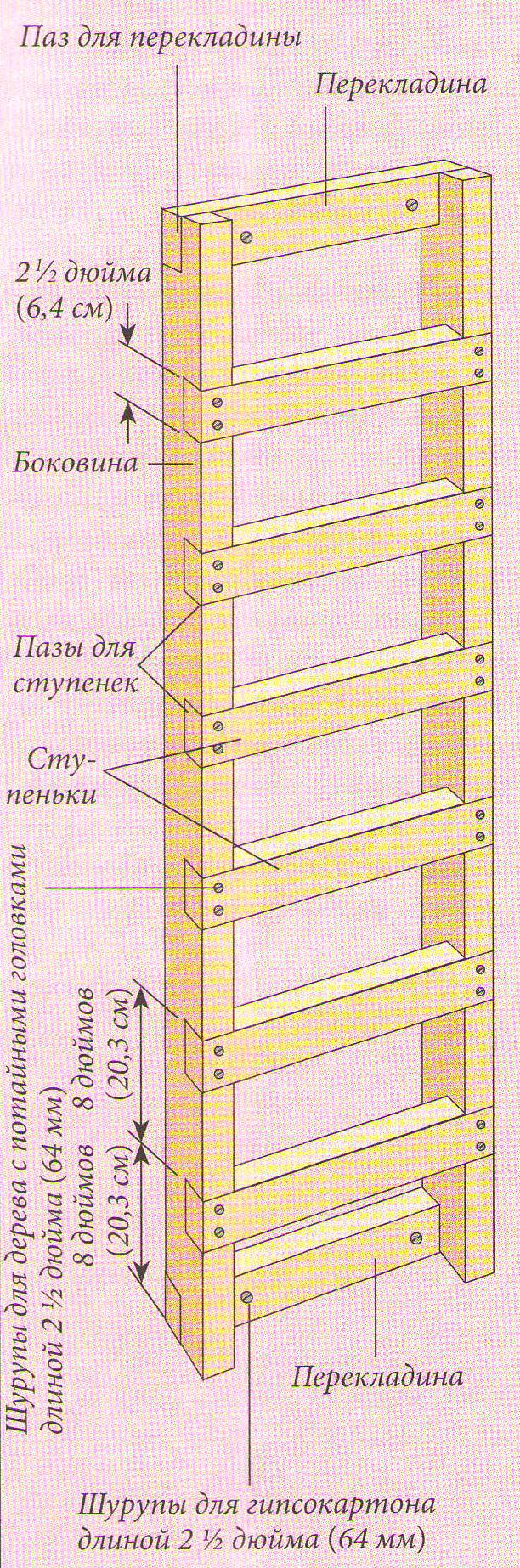 Кровать с лестницей своими руками - чертежи и фото Своими 18